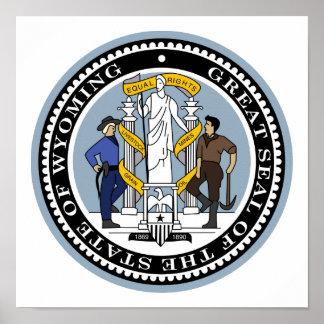 Wyoming-Staats-Siegel Poster