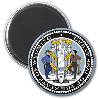 Wyoming-Staats-Siegel Runder Magnet 5,7 Cm