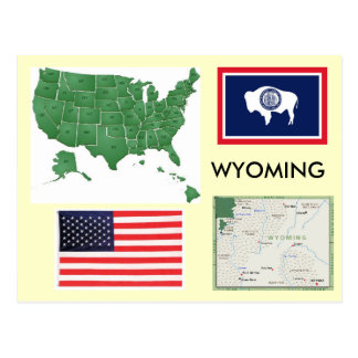 Wyoming, USA Postkarten