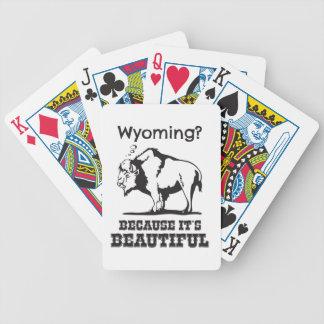 Wyoming? Weil es schön ist Bicycle Spielkarten