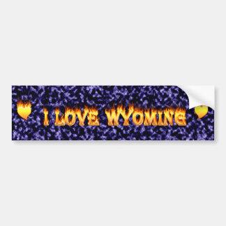 Wyomingfeuer und -flammen der Liebe I Autoaufkleber