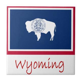 Wyomingflagge und -name keramikfliese