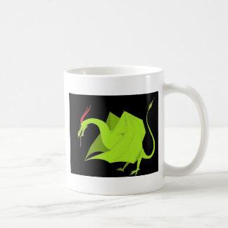 Wyvern auf Schwarzem Kaffeetasse