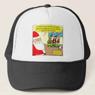 x81 Sankt Elf hat die gegangene Fischerei? Cartoon Truckerkappe