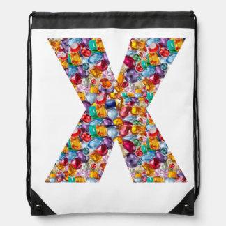 X EX RÖNTGENSTRAHL-ALPHABET-RUCKSACK:  KUNST durch Sportbeutel