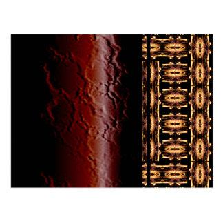X Flammen-Gitter Postkarte