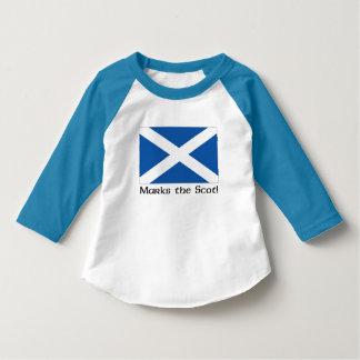 X Kennzeichen der Schotte - blauer Raglan T-Shirt