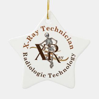 X Strahln-Techniker-Kreis Brown Keramik Ornament