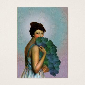 Xahara: 1917 Mode-Porträt im Aqua und im Grün Visitenkarte