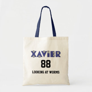 Xavier im Fußball-Blau Einkaufstaschen