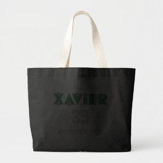 Xavier im Fußball-Grün Leinentaschen