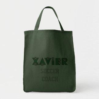 Xavier im Fußball-Grün Leinentasche