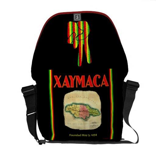 XAYMACA, Jamaika-Karten-Rickshaw-Bote-Tasche Kuriertaschen