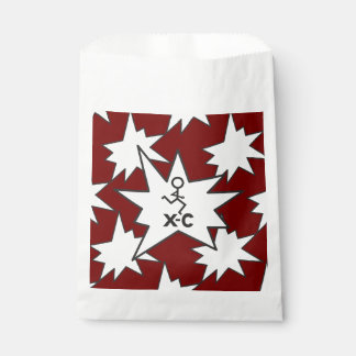XC Cross Country laufender kastanienbrauner Geschenktütchen