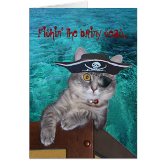 Xena als Piraten-Karte -- besonders angefertigt Grußkarte