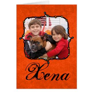 Xena - Boxer Grußkarte