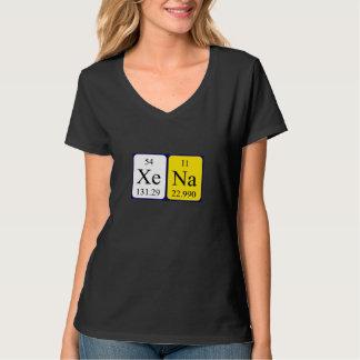 Xena Namen-Shirt periodischer Tabelle Hemden