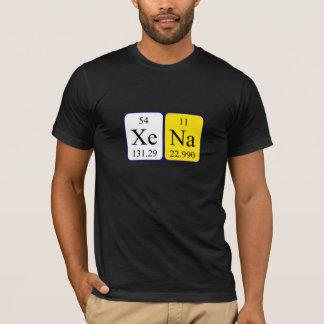 Xena Namen-Shirt periodischer Tabelle T-Shirt
