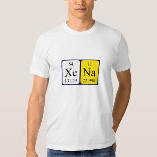 Xena Namen-Shirt periodischer Tabelle T-Shirts