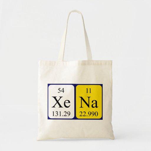 Xena Namen-Taschentasche periodischer Tabelle Tasche