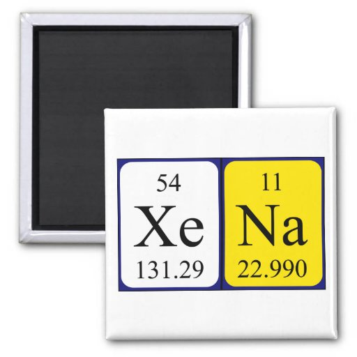Xena Periodensystem-Namenmagnet Kühlschrankmagnete