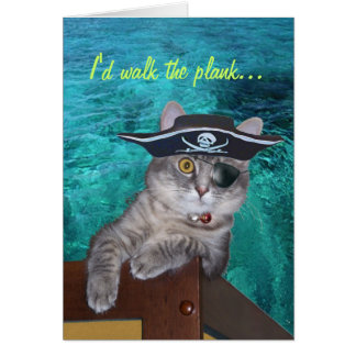 Xena Piraten-Valentinsgruß-Karte - Custominzed Grußkarte