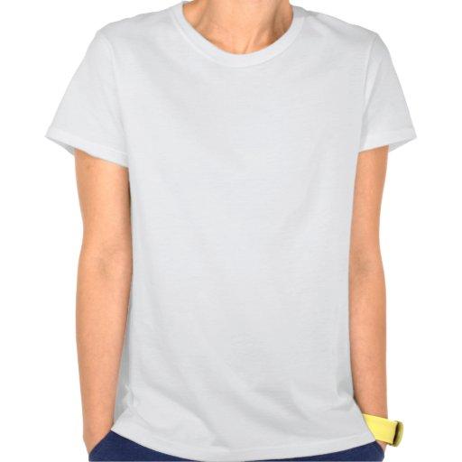 Xenu weibliches weißes Trägershirt Hemden