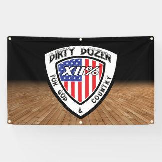 XII% schmutzige Dutzend treffende Fahne! Banner