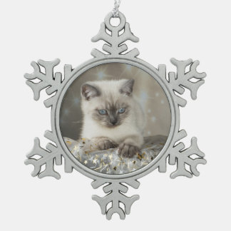 XMAS Cats Schneeflocken Zinn-Ornament