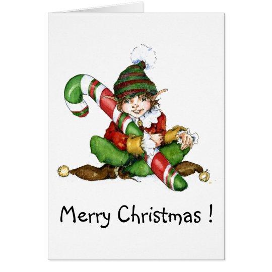 XMAS Elf and CandyCane'09, Merry Christmas ! Karte