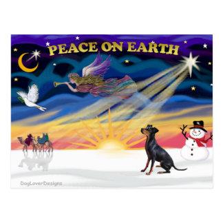 XmasSunrise-ManchesterTerrier-1 Postkarte