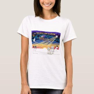 XmasSunrise-Two Baumwolle De Tulears T-Shirt