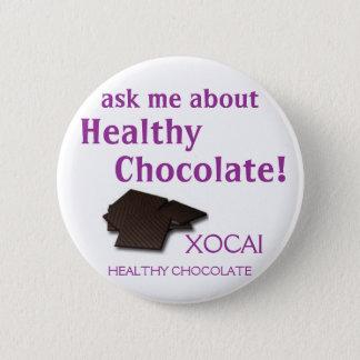 XOCAI gesunde Schokolade Runder Button 5,7 Cm