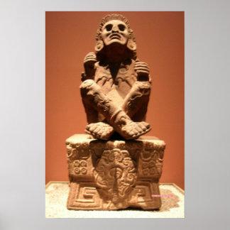 Xochipilli, aztekischer Gott des Musik-Plakats