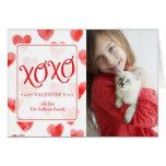 XOXO Aquarell-Herz-Valentinstag-Karte