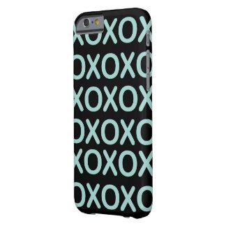 XOXO blauer und schwarzer Iphone 6s Kasten Barely There iPhone 6 Hülle