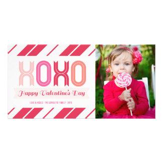XOXO Liebe-und Küssevalentines TagesFoto-Karten Karte