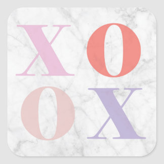 XOXO Marmoraufkleber Quadratischer Aufkleber