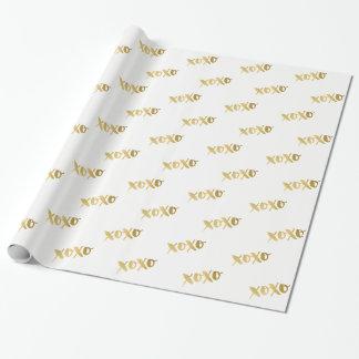 XOXO MODERNE MINIMALE gebürstete Art Imitatgold Geschenkpapier