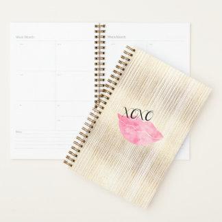 XOXO rosa Aquarell-Lippen Planer