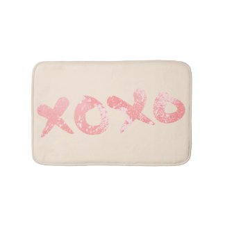 XOXO rosa Farben-Spritzer Badematte