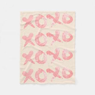 XOXO rosa Farben-Spritzer Fleecedecke