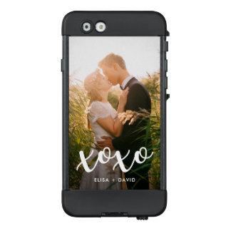 xoxo   süße weiße Überlagerung mit Foto LifeProof NÜÜD iPhone 6 Hülle