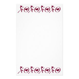 XOXO umarmt n-Kuss-Herz-Valentinstag Briefpapier