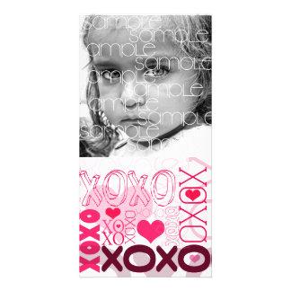 XOXO Valentinsgruß küsst u. umarmt Bild Karte