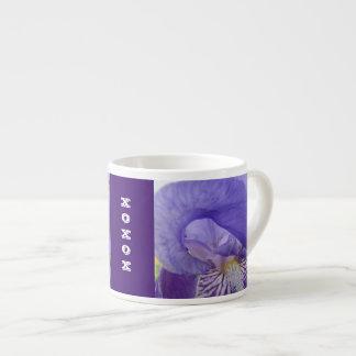 XOXOX Expresso Tassen-lila Iris-Blumen Espresso-Tassen
