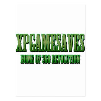 XPG grüne gewollte Blick Strecke Postkarten