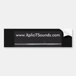 XpliciTSounds homepage-Aufkleber Autoaufkleber