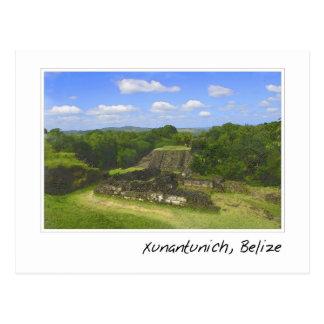 Xunantunich Mayaruine in Belize Postkarte