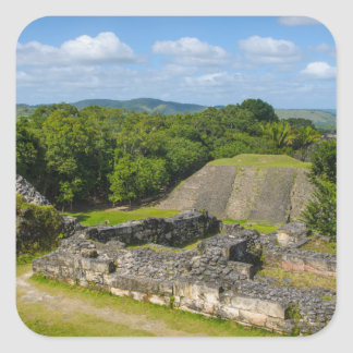 Xunantunich Mayaruine in Belize Quadratischer Aufkleber